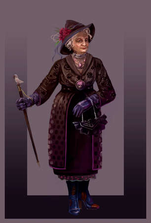 fashionable grandma at the age of