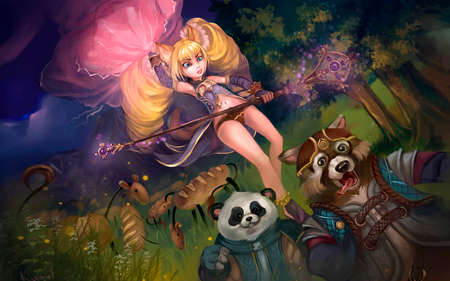 illustration of a fairy in a fairy forest Stok Fotoğraf