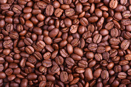 Texture of aroma fresh coffee beans