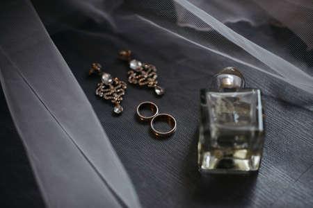 Wedding details. Bride accessories Standard-Bild