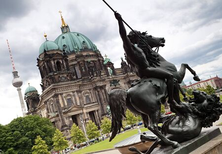 Berlin Cathedral, Berlin TV Tower. photo