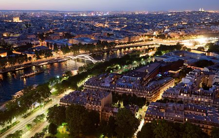 View of Paris from Eiffel Tower photo