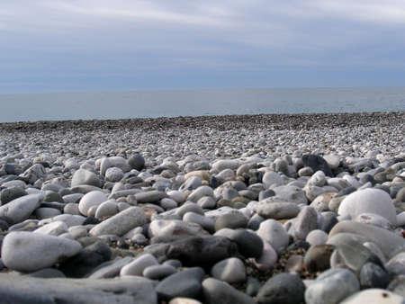 pebles: Empty peble beach