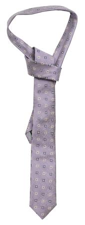 neckcloth: Lilac silk tie on a white background