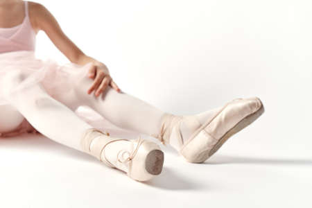 feet, ballet dancer, pointes. Stock Photo