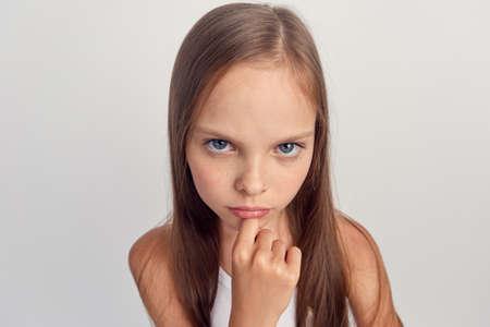 girl, child, portrait, close-up.