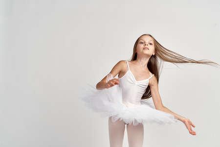 little girl, dance, hair in the air.