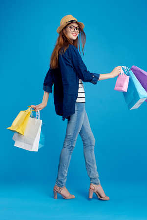 woman shopaholic. Stock Photo