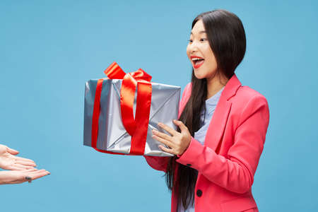 Gifts Holidays Woman Joy Delight Model Christmas New Year
