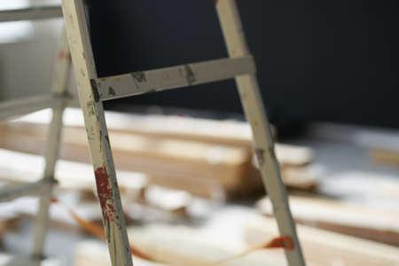 Stepladder repair construction tools equipment craft technology Standard-Bild