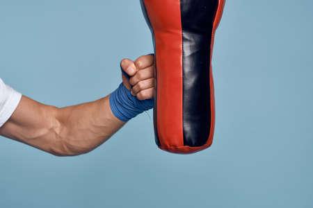 Punching bag punch training boxing exercise bandages