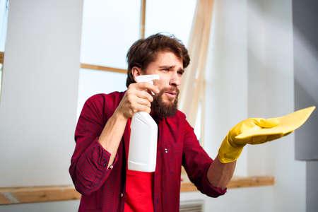 House cleaner detergent interior window lifestyle service
