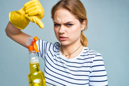cleaning lady with detergent cleaning housework lifestyle service