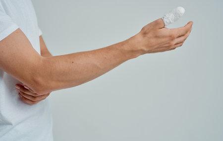 man with broken thumb health problems medicine patient