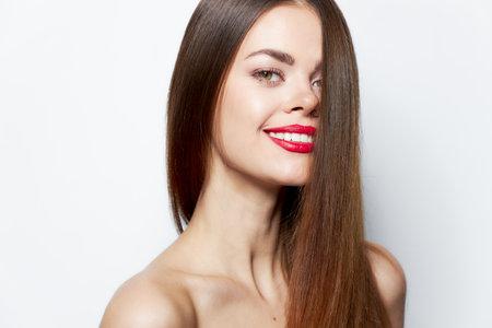 Woman portrait charming smile body care 免版税图像