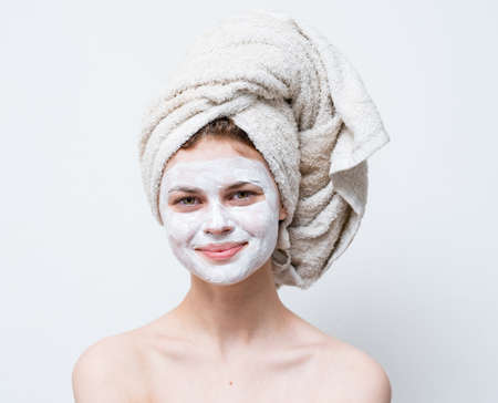 pretty woman cream face mask shoulders clean skin cosmetics care