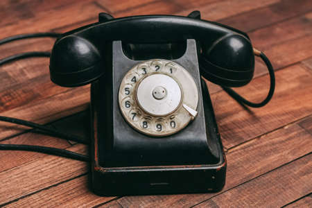 old retro telephone classic style antique communication technology Banque d'images