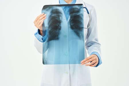 female doctor examination Professional isolated background