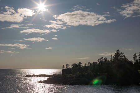 The sun is over Ladoga. Balaam.