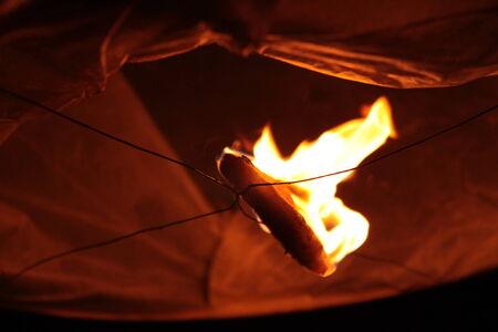 firestarter: Fire started inside the chinese lantern