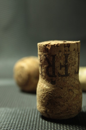 some wine corks on the table photo