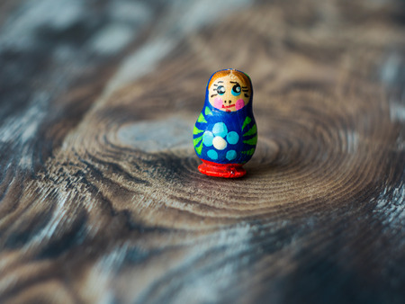 Macro shot of Russian traditional Doll Matrioshka, Matryoshka or Babushka