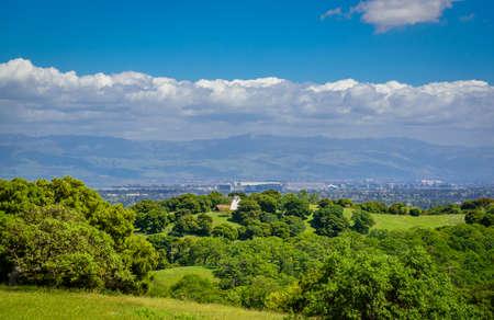Widok na dolinę Sillicon ze szczytu wzgórza Zdjęcie Seryjne