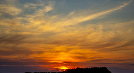 Sky, sunset and clouds. Composition of nature. Concept image.