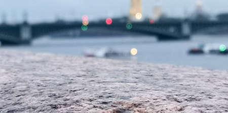 The river promenade with fine stone blocks. Standard-Bild