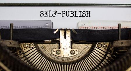 Self-publish symbol. Words 'self-publish' typed on retro typewriter. Business and self-publish concept. Beautiful background. 스톡 콘텐츠 - 161317970