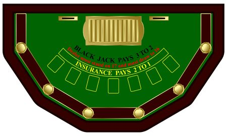 Black Jack table in vector Illustration