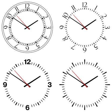 zeitlos: Vier verschiedene Designs von Takten