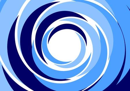 抽象的な背景 - 青い同心円