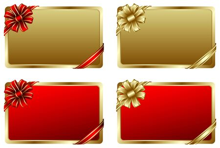 Beautiful gift card in vector Vector