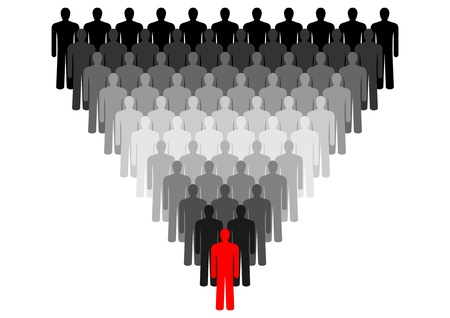 congregation: Leadership  Symbol of peoples, representing the crowd