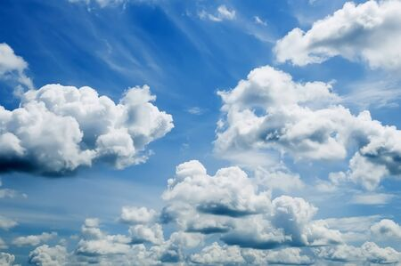 puffy: Background - very nice puffy clouds Stock Photo