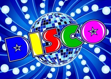 party dj: Disco - composition dans un style r�tros ann�es 80 Illustration