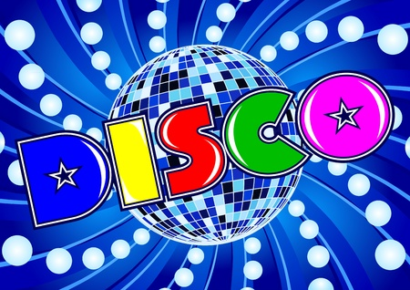 Disco - composition in a retro style 80 Vector