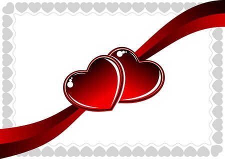 Illustration of a red heart Vector