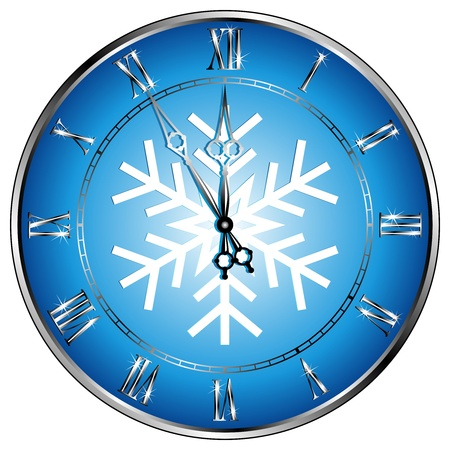 zeitlos: New diesj�hrigen Uhr mit dem Schneeflockensymbol