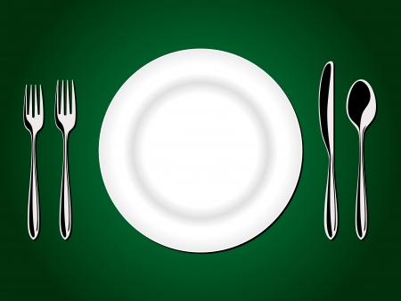 lunchroom: Place Setting - fork, knife, spoon
