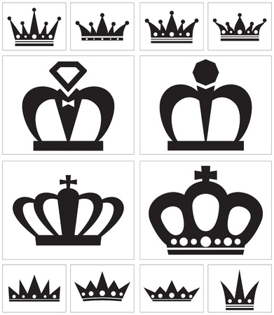 A variety of crown for logos Stock Vector - 14636227