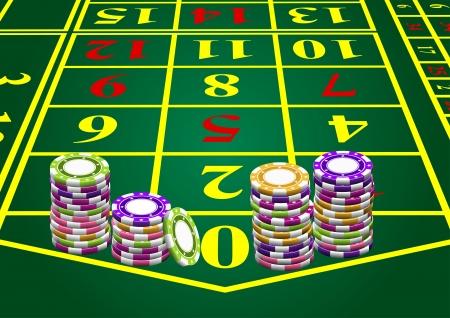 fichas de casino: Fichas - hizo una apuesta en cero
