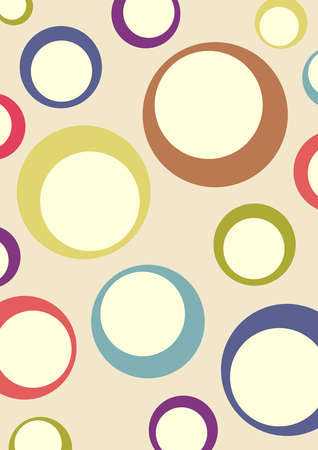 variegated: Abstract background - variegated circles on a green background