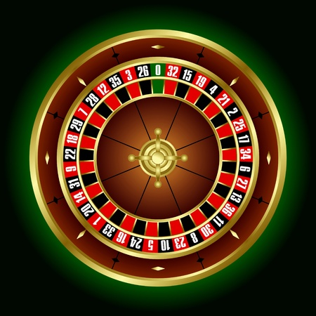 Roulette wheel in the vector Illustration