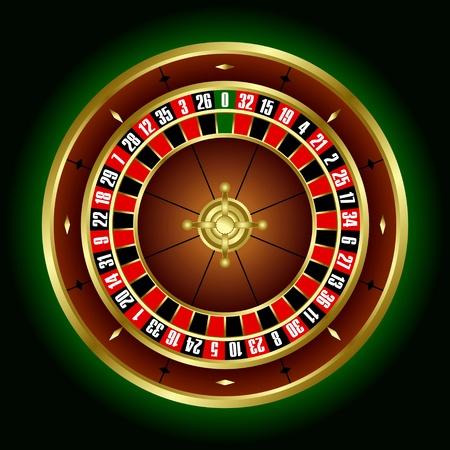 ruleta de casino: Ruleta de la rueda en el vector Vectores