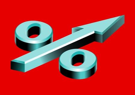 pointing up: Simbolo per cento sotto forma di freccia rivolta verso l'alto