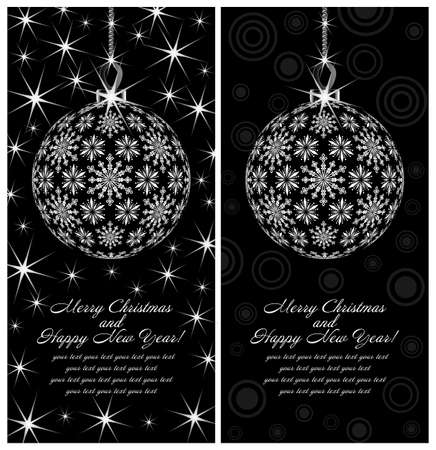 Template holiday postcards depicting New Year Stock Vector - 14637958