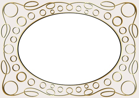 Vector vintage golden frame Stock Vector - 14636753