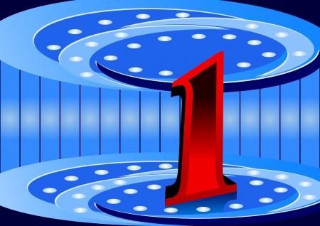 oncept: Number one - symbol  Illustration